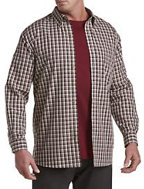 Harbor Bay® Easy-Care Medium Plaid Sport Shirt