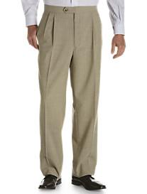 Sansabelt® Bengaline Pleated Trousers