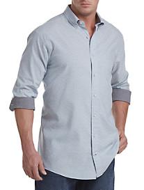 Nautica® Blue Dobby Sport Shirt