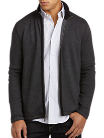 Perry Ellis® Full-Zip Herringbone Knit