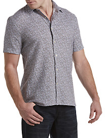 Perry Ellis® Small Floral Patterned Sport Shirt