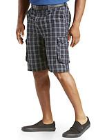 True Nation® Plaid Cargo Shorts