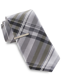 Gold Series® Ombré Stripe Silk Tie with Tie Bar