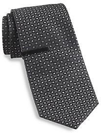 Gold Series® Circle Medallion Silk Tie with Tie Bar