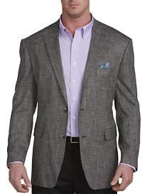 Oak Hill® Jacket Relaxer™ Black/White Textured Sport Coat – Executive Cut