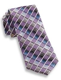 Andrew Fezza Box Grid Silk Tie