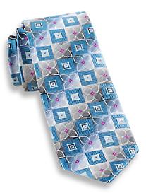 Andrew Fezza Striped Floral Silk Tie