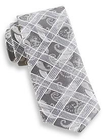 Andrew Fezza Large Grid Paisley Silk Tie