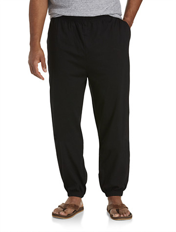 Harbor Bay® Cinched-Hem Jersey Pants ( Active Bottoms )