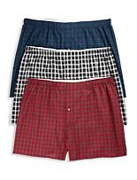 Harbor Bay® 3-pk Tartan Plaid Woven Boxers