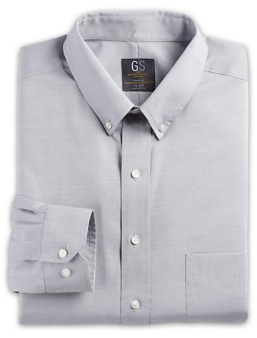 Gold Series Wrinkle-Free Cool & Dry Solid Pinpoint Dress Shirt - ( Mix & Match Geoffrey Beene, Gold Series & Synrgy Dress Shirts )