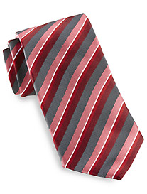 Synrgy™ Charcoal Pop Stripe Silk Tie
