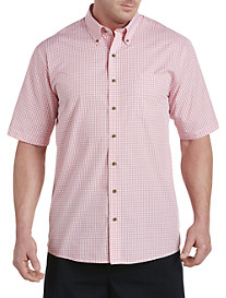 Harbor Bay® Easy-Care Small Check Sport Shirt