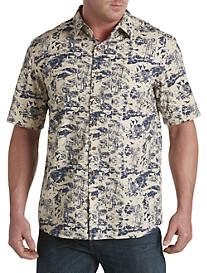 True Nation® Tropical Print Sport Shirt