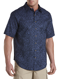 True Nation® Batik Print Sport Shirt