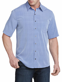 Synrgy™ Space-Dyed Plaid Microfiber Sport Shirt