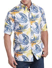 Harbor Bay® Multi-Leaf Print Sport Shirt