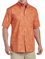 Harbor Bay® Tonal Leaf-Print Sport Shirt