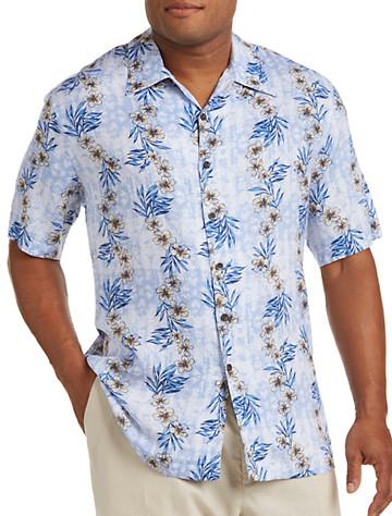 Island Passport® Floral Print Camp Shirt