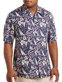 Island Passport® Boat-Print Camp Shirt