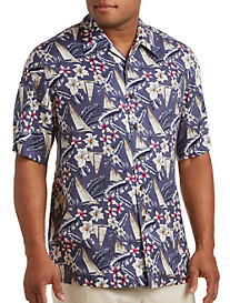 Island Passport® Boat-Print Camp Shirt