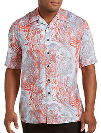 Island Passport® Abstract-Print Camp Shirt