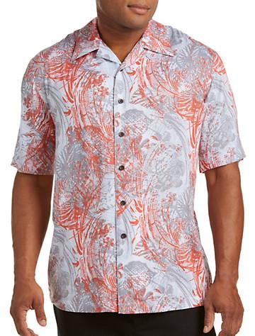 Island Passport® Abstract-Print Camp Shirt