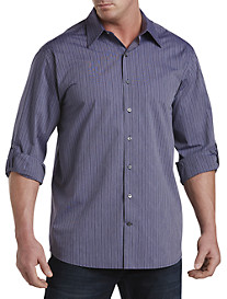 Synrgy™ Stripe Roll-Sleeve Sport Shirt