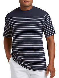 Harbor Bay® Placed Stripe No-Pocket Tee