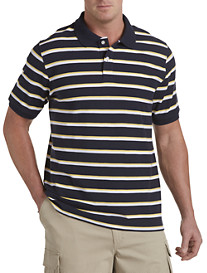 Harbor Bay® Three-Stripe Piqué Polo