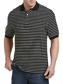 Harbor Bay® Stripe Piqué Polo