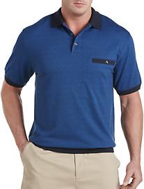 Harbor Bay® Tonal Dot Banded-Bottom Shirt