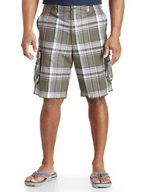 True Nation® Plaid Cargo Shorts