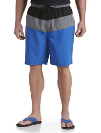 Harbor Bay® Bold Colorblocked Swim Trunks