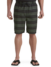 True Nation® Thin Stripe Swim Trunks