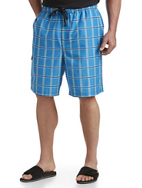 True Nation® Plaid Swim Trunks