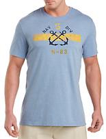 Nautica® Crossed Anchor Stripe Graphic Tee