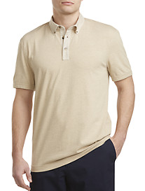 Nautica® Solid Polo with Linen Collar