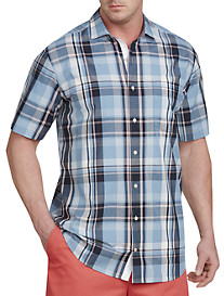 Nautica® Drift Blue Plaid Sport Shirt