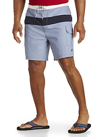 Nautica® Chambray Colorblock Swim Trunks