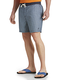 Nautica® Square-Print Swim Trunks