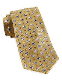 Gold Series Parque Medallion Silk Tie
