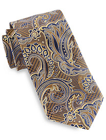 Gold Series® Designed in Italy Houndstooth Paisley Silk Tie