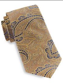 Gold Series Designed in Italy Herringbone Paisley Silk Tie