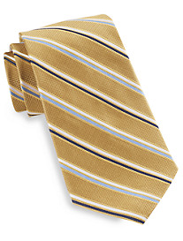 Gold Series® Designed in Italy Oxford Thin Stripe Silk Tie