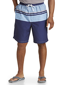 True Nation® Stripe Swim Trunks