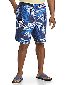 Island Passport® Full Body Leaf Print Board Shorts