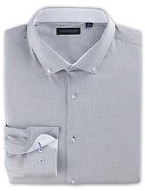 Andrew Fezza Birdseye-Weave Dress Shirt