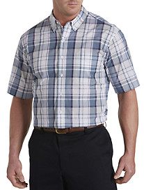 Oak Hill® Large Plaid Performance Sport Shirt