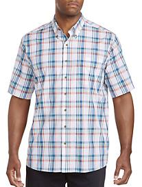 Harbor Bay® Easy-Care Large Mulit-Plaid Sport Shirt